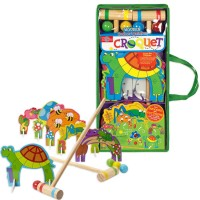 Kids Croquet Wooden Indoor & Outdoor Play Set