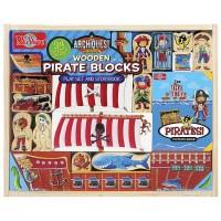 Pirate Wooden Blocks Play Set & Storybook