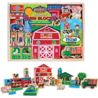 ArchiQuest Wooden Farm Blocks Playset & Storybook