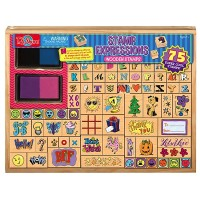 Stamp Expressions 75 pc Wooden Stamps Set