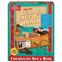 Genuine Leather Lacing Creativity Set & Book