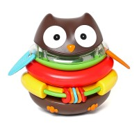 Explore & More Rocking Owl Stacker Sensory Toy