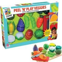 Peel n Play Veggies 13 pc Toy Food Set