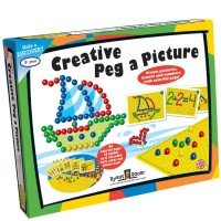 Creative Peg a Picture 96 pc Mosaic Pegboard
