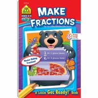 Make Fractions 48 Pages Activity Workbook for Grades 1-2