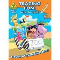 Tracing Fun Write & Reuse Preschool Activity Workbook