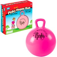 Pinky Hoppy Ball - Kids 18 Inches Pink Jump Ball with Pump