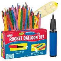 Giant Rocket 85 Balloons Set with Pump