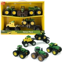 John Deere Monster Treads 5 Toy Vehicles Value Set