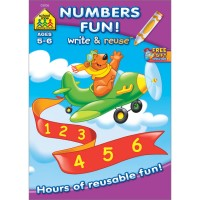 Numbers Fun Write & Reuse Workbook - 26 Laminated Pages