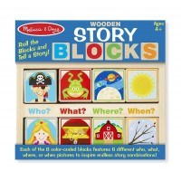 Wooden Story Blocks 8 pc Story Telling Set