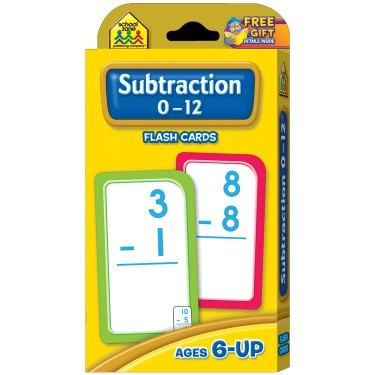 Subtraction 0-12 Flash Cards Learning Toy