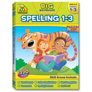 Spelling Grades 1-3 Big Workbook for Kids