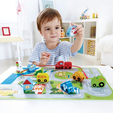 Busy City Lacing and Puzzle Set