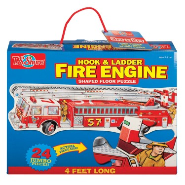 Fire Engine Shaped Floor Puzzle