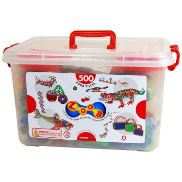 Zoob 500 pc Ultimate Moving Building Set in a Storage Tub