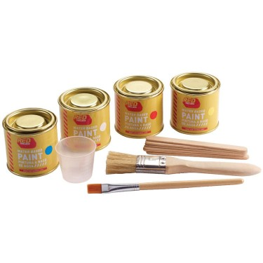 Paint Set of 4 Colors for Kids Woodworking Projects