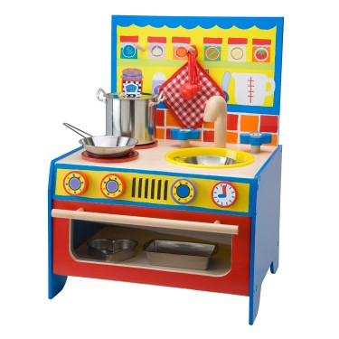 Kids Wooden Pretend Play Kitchen
