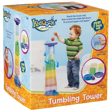 Stack n Roll Tumbling Tower Stacking Toy