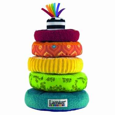 Lamaze Rainbow Rings Soft Stacking Baby Toy