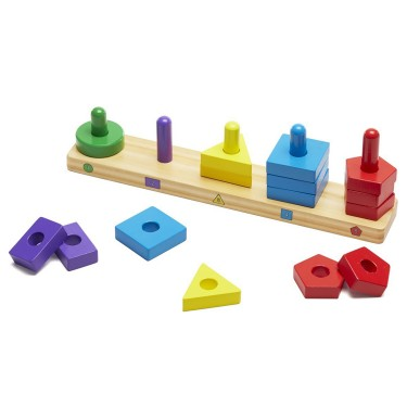 Stack & Sort Board Wooden Stacking Toy