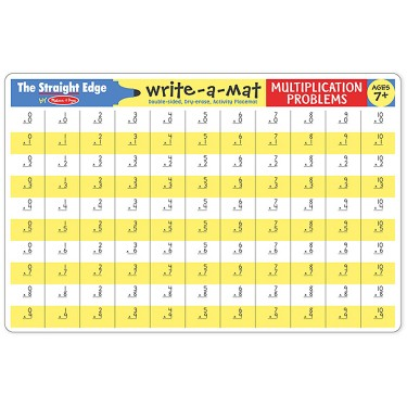 Multiplication Write-on Learning Placemat