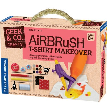 Airbrush Spray Paint T-Shirt Decorating Craft Kit