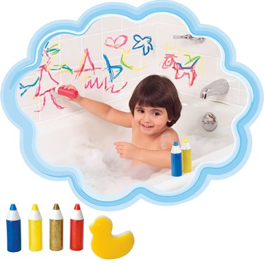 Paint in the Tub Bath Writers 4 pc Bath Set