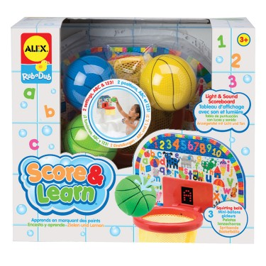 Score and Learn Bathtub Basketball Toy