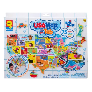 USA Map in the Tub 75 pc Foam Puzzle