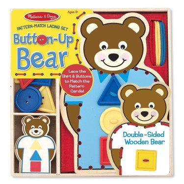 Button Up Bear Lacing Activity Toy