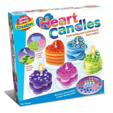 Heart Candles Making Craft Kit for Girls
