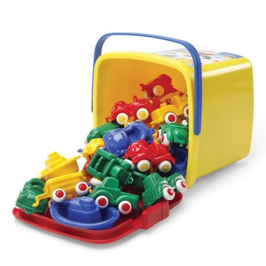 First Vehicles 30 pc Toddler Playset Bucket