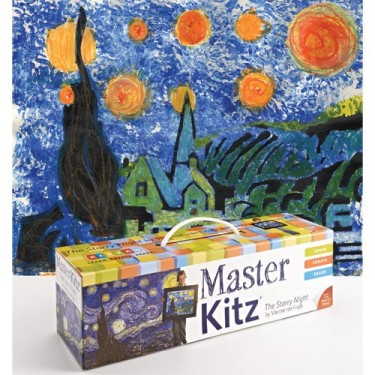 Famous Painting Art Kit - The Starry Night by Van Gogh