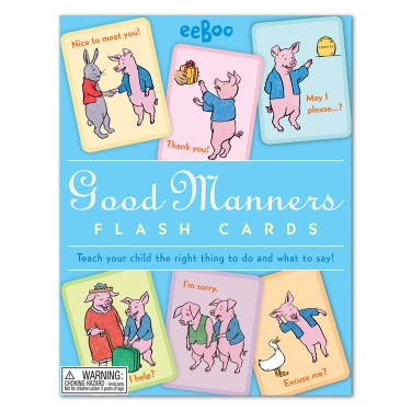Good Manners Responsibility Flash Cards