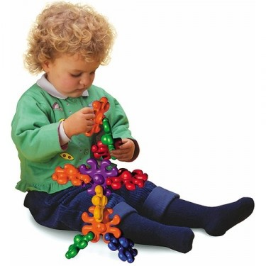 Quercetti Interlocking Octopi Shapes Toddler Building Toy