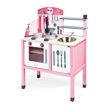 Pink play kitchen accessories deluxe maxi cuisine set for Small toy kitchen set