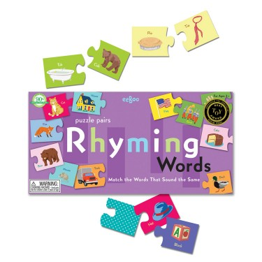 Rhyming Words Learning Puzzle Game