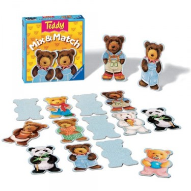 Teddy Mix & Match Memory Matching Game