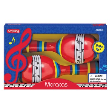 Tin Maracas 2 pc Musical Instrument Toy