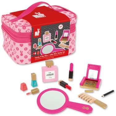 Little Miss Vanity Case 9 pc Girls Beauty Bag Play Set