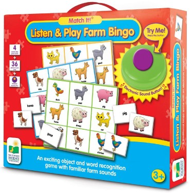 Listen & Play Farm Bingo Animal Sound Game