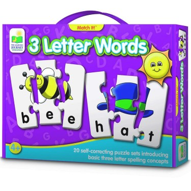 3 Letter Words Spelling Match It Puzzle Game - Educational