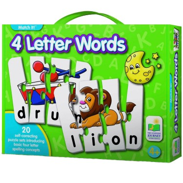 4 Letter Words Spelling Match It Puzzle Game