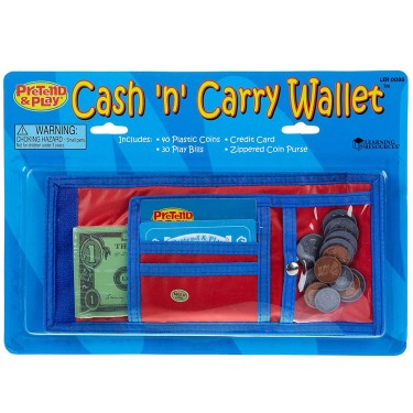 Cash n Carry Wallet Money Learning Play Set
