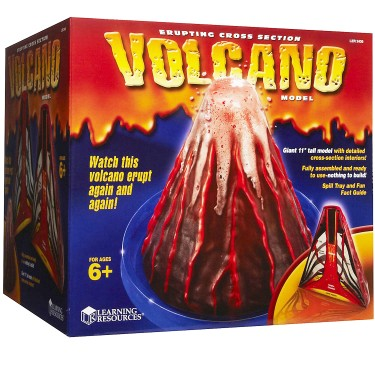 Erupting Cross Section Volcano Model