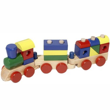 Stacking Train Wooden Toddler Toy