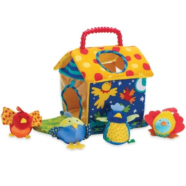 Put & Peek Birdhouse Fill & Spill Baby Toy