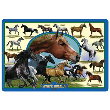 Horse Breeds 24 pc Jumbo Floor Puzzle