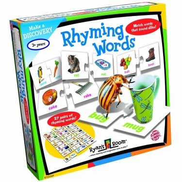 Rhyming Words Matching Puzzle Set